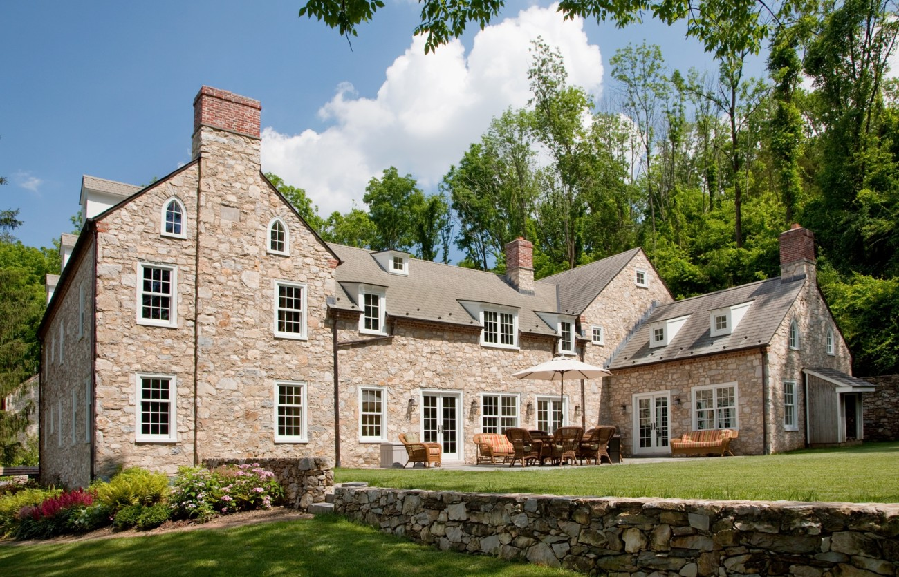 Cold springs farm in malvern period architecture ltd for Pennsylvania stone farmhouses