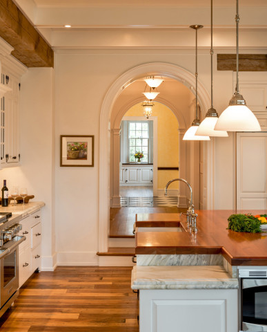 Berwyn Home with Traditional Style of Main Line kitchen island