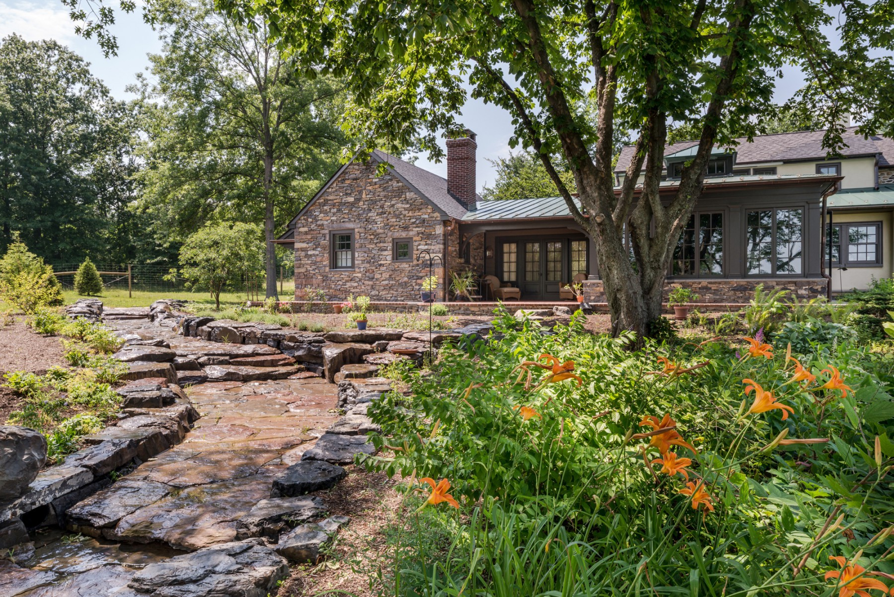 Bucks County renovation and addition garden