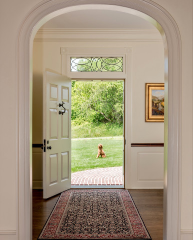 Pennsylvania Farmhouse Chadds Ford front door dog