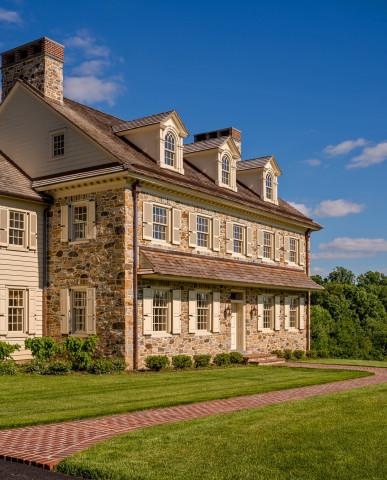Pennsylvania Farmhouse Chadds Ford stone exterior