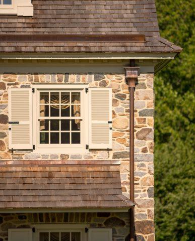 Pennsylvania Farmhouse Chadds Ford exterior window detail