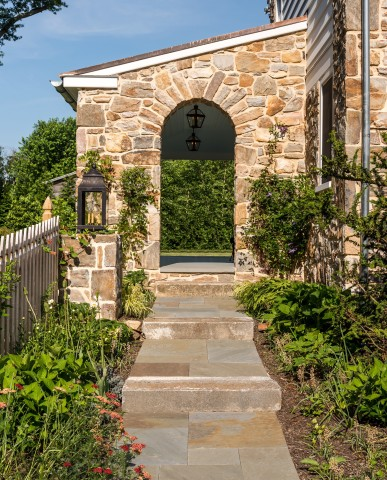 Chester County addition and renovation stone arch
