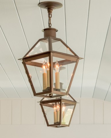 Chester County addition and renovation hanging lights