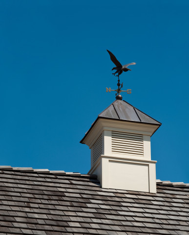 Unionville Chester County Pennsylvania New Colonial Stone House wind vane on roof