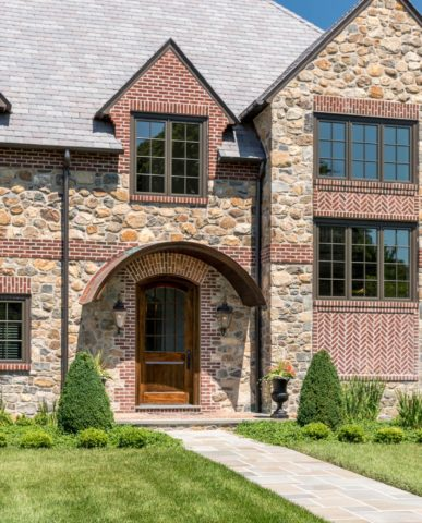 English Country House Inspired Greenville Home front door