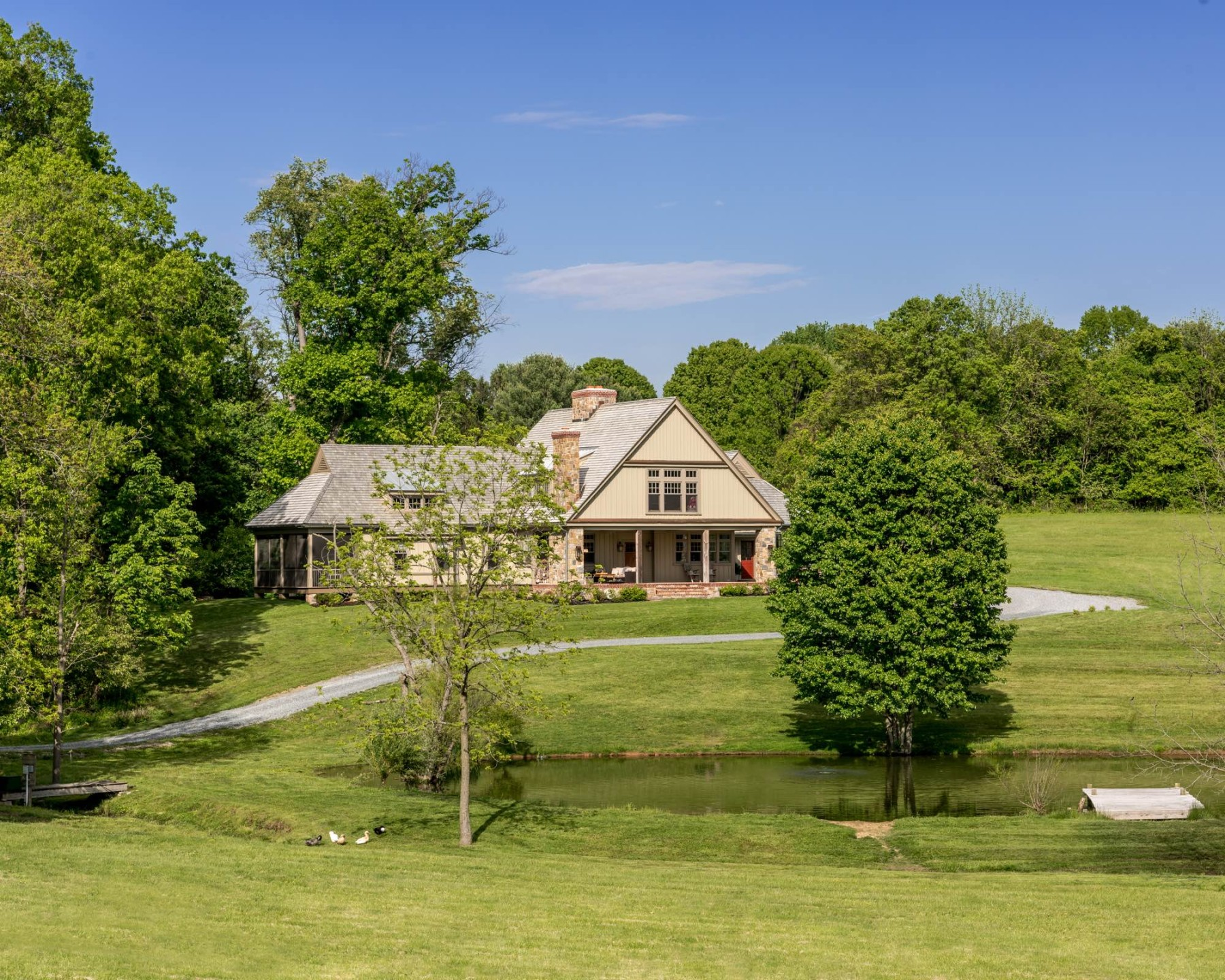 Chester County horse country kennett square pa duck pond house