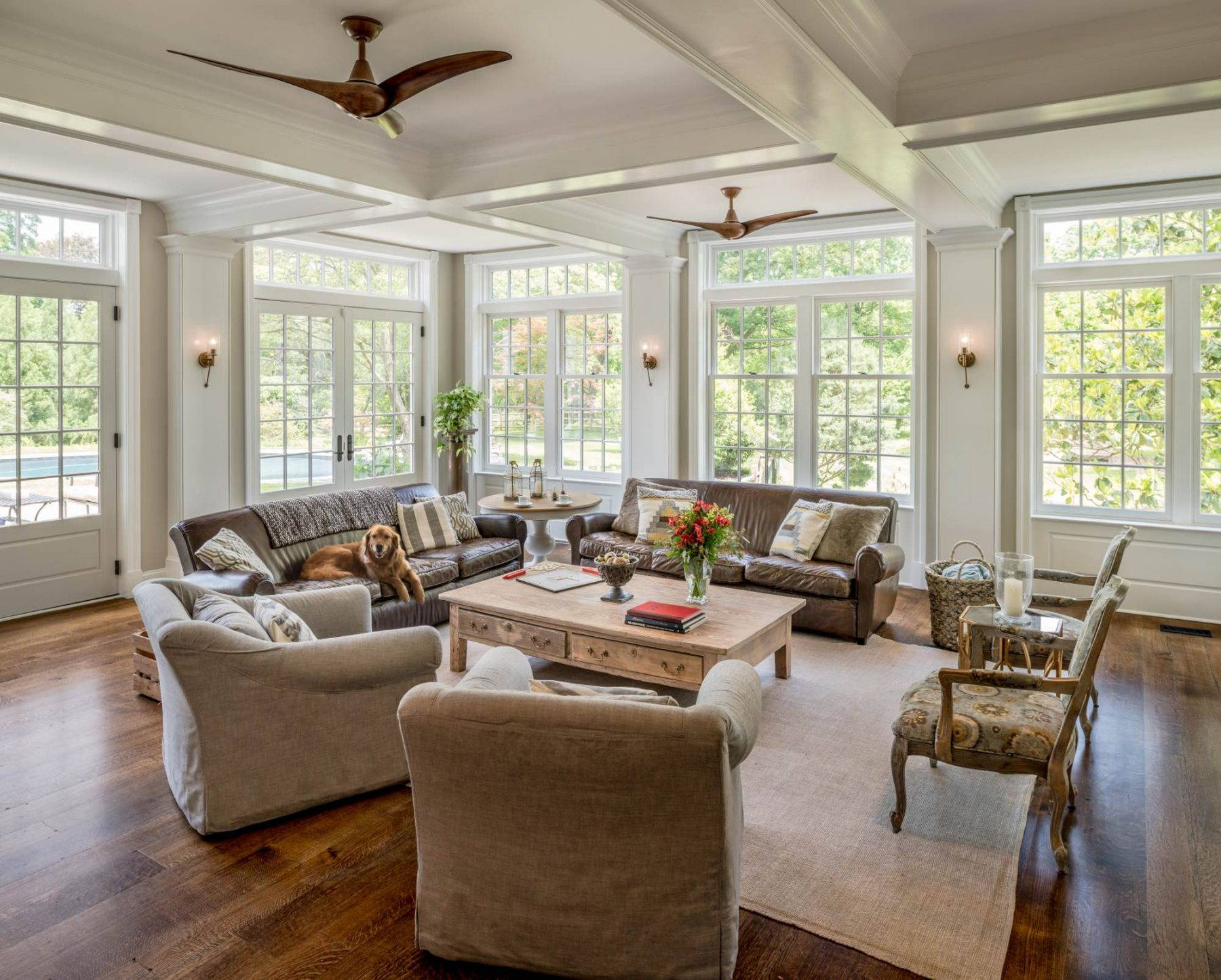 Newtown Square addition living room